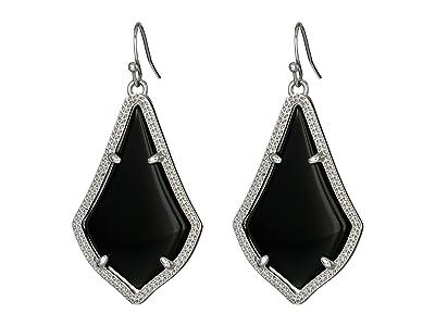 Kendra Scott Alex Earring (Rhodium/Black) Earring