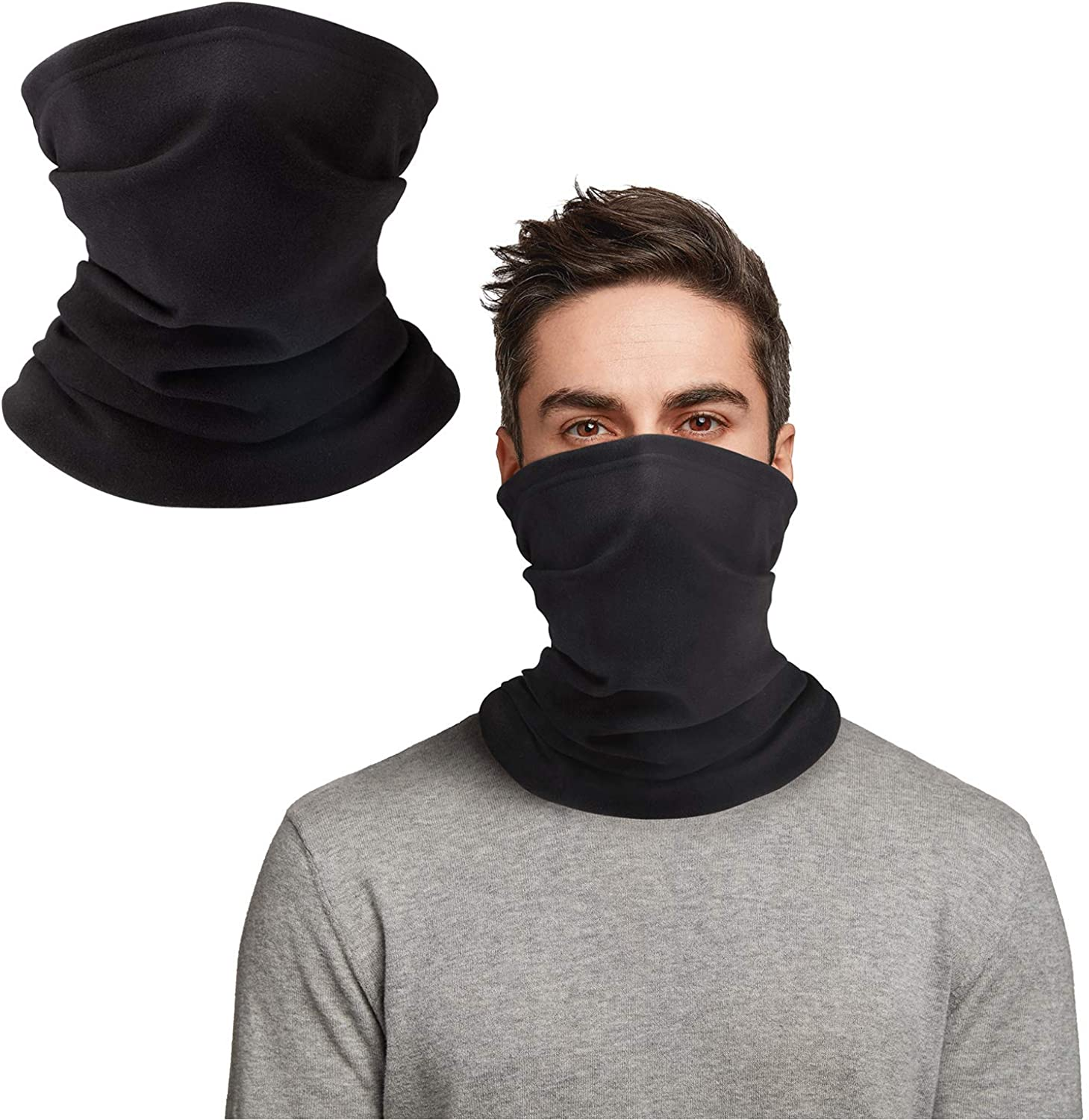 Doerix Neck Warmer, Neck Gaiter Face Mask Face Coverings for Men Women, Gators Face Mask Scarf Balaclava for Cold Weather
