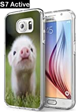 S7 Active Pig,Gifun Soft Clear TPU [Anti-Slide] and [Drop Protection] Protective Case Cover for Samsung Galaxy S7 Active W Cute Little Pig