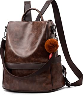 Women Backpack Purse PU Leather Anti-theft Casual Shoulder Bag Fashion Ladies Satchel Bags