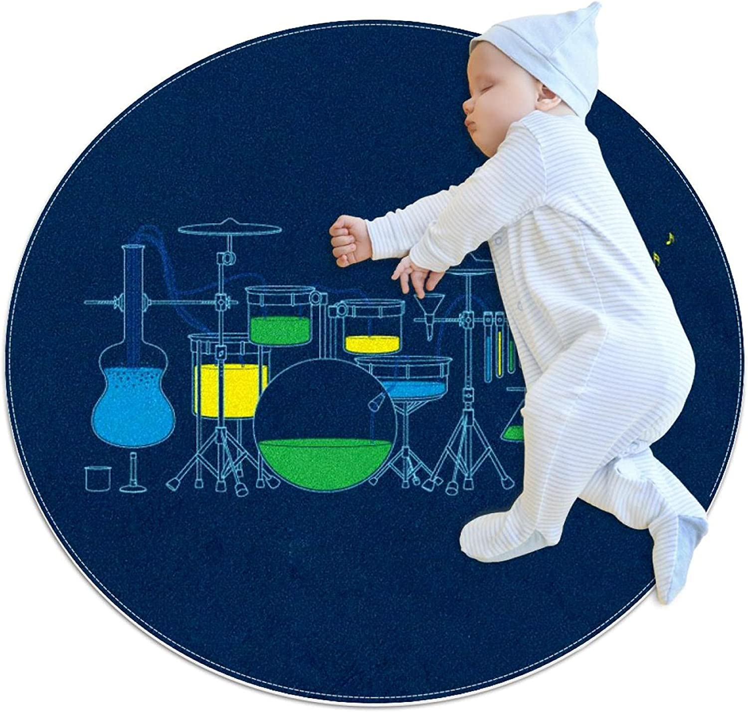 Science Music Kids Polyester Play Cheap super special price Soft half Detacha Crawling Mat