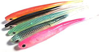 ebPowers 5pcs Softbait Wiggle Shad Soft Plastic Swimbait Fishing Lure Smallmouth Bass Perch 5 Color in Package
