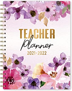 Teacher Planner 2021-2022 - Academic Lesson Planner, July 2021 - June 2022, 8.5'' x 11'', Weekly & Monthly Lesson Planner,...