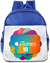 XJBD Custom Funny ITunes Boys And Girls School Bag Backpack For 1-6 Years Old RoyalBlue