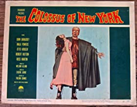 THE COLOSSUS OF NEW YORK - ORIGINAL 1958 LOBBY CARD #4 POSTER - ROBOT MONSTER