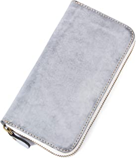 Cenunco Genuine Leather Wallets for Women RFID Blocking Large Capacity Vintage Zip Around Designer Cowhide Cell Phone Purs...