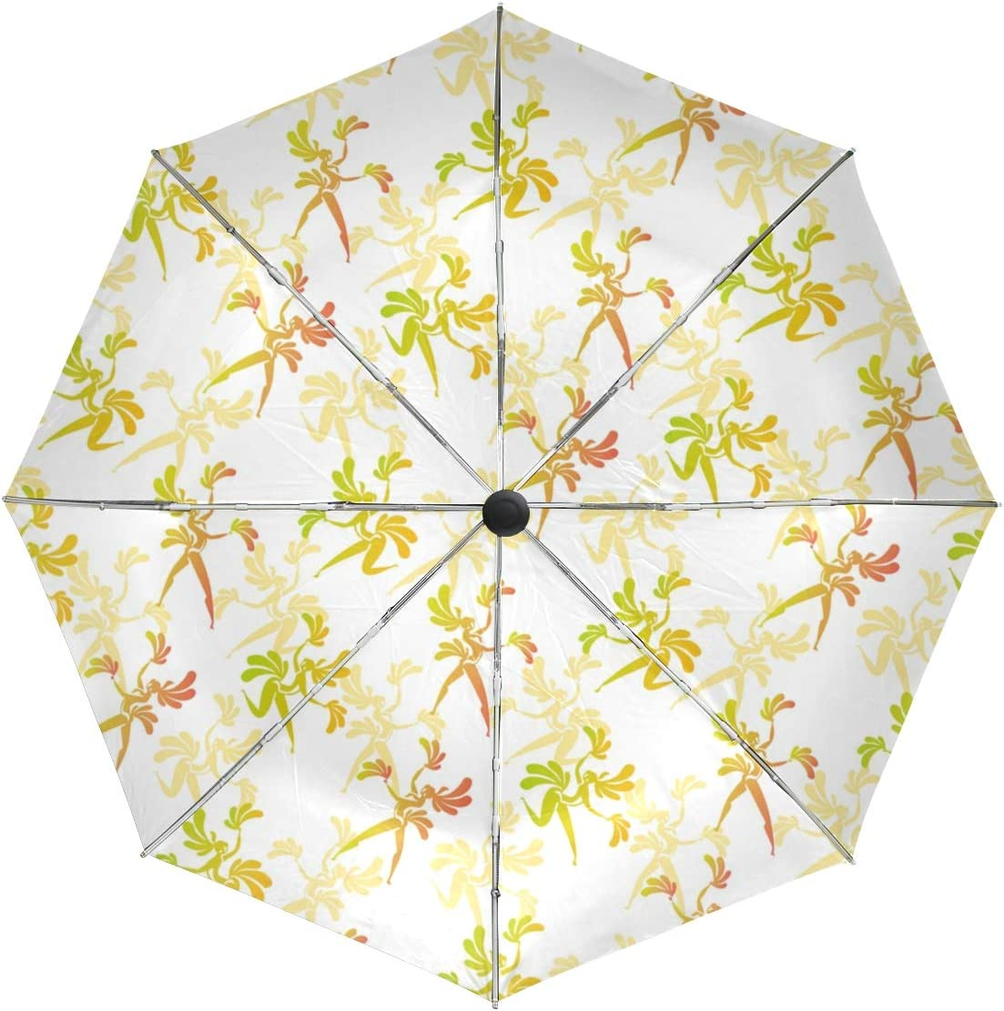 Waterproof Automatic Open Umbrellas Patern OFFicial store Festival Max 61% OFF Windp Leaves