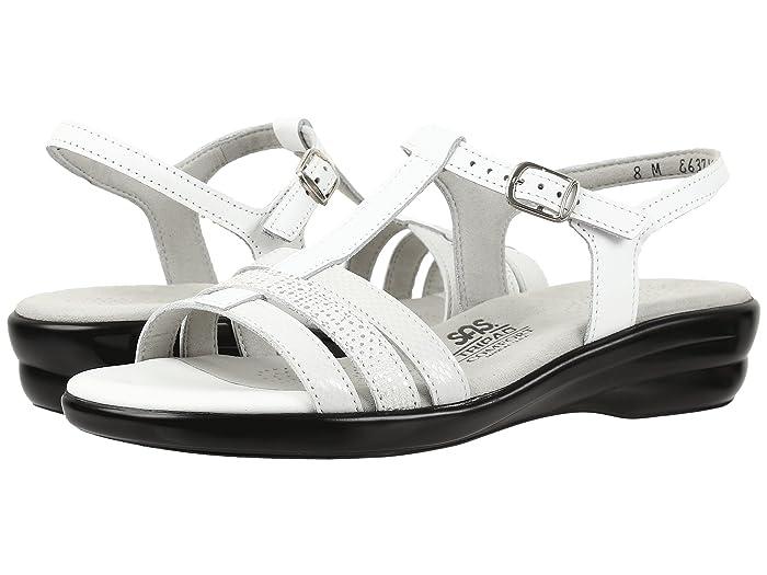 60s Shoes, Boots SAS Capri White Multi Womens Shoes $138.95 AT vintagedancer.com