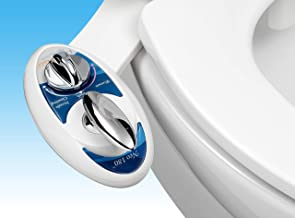 Luxe Bidet Neo 180 - Self Cleaning Dual Nozzle - Fresh Water Non-Electric Mechanical Bidet Toilet Attachment Blue