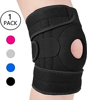AVIDDA Knee Brace for Meniscus Tear Arthritis Pain Open Patella Stabilizers Non Slip Knee Support for Men Women Comfort Neoprene Knee Wrap for Weightlifting Running (One Size)