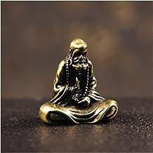 Retro Brass Dharma Buddha Mini Statue Solid Copper Bodhidharma Master Figurines Desk Decoration Handcrafts Gifts