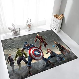 ZZXC Tapis De Bande Dessinée Cool Avengers Hulk Équipe USA Long Rectangle Tapis Chambre Canapé Chambre d'enfants Salle D'É...