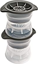 Tovolo 80-9697 Leak-Free With Silicone Sealed Lid, Anti-Tip, Set of 2 Stackable Molds for Whiskey, Spirits, Liquor, Cockta...