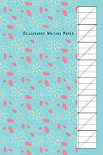 Calligraphy Writing Paper: Slant Graph Paper Grid Blank Lined Creative Handwriting Calligraphy Practice Lettering and Penmanship Practice Workbook Alphabet Beginners Artist Bule Flower Cover Theme