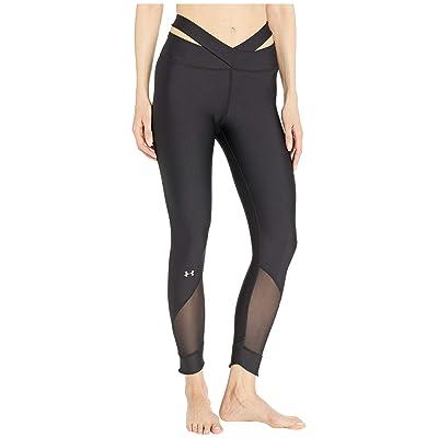 Under Armour UA HeatGear(r) Fashion Ankle Crop (Black/Metallic Silver) Women