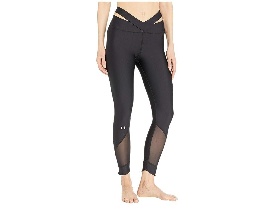 Under Armour UA HeatGear(r) Fashion Ankle Crop (Black/Metallic Silver) Women's Capri