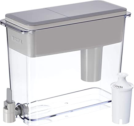 BRITA 18 Cup UltraMax Water Dispenser and Filter BPA Free, Gray, Large
