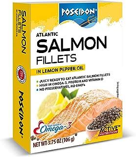 Atlantic Salmon Fillets - Lemon Pepper Oil , 3.75 Ounce (Pack of 14)