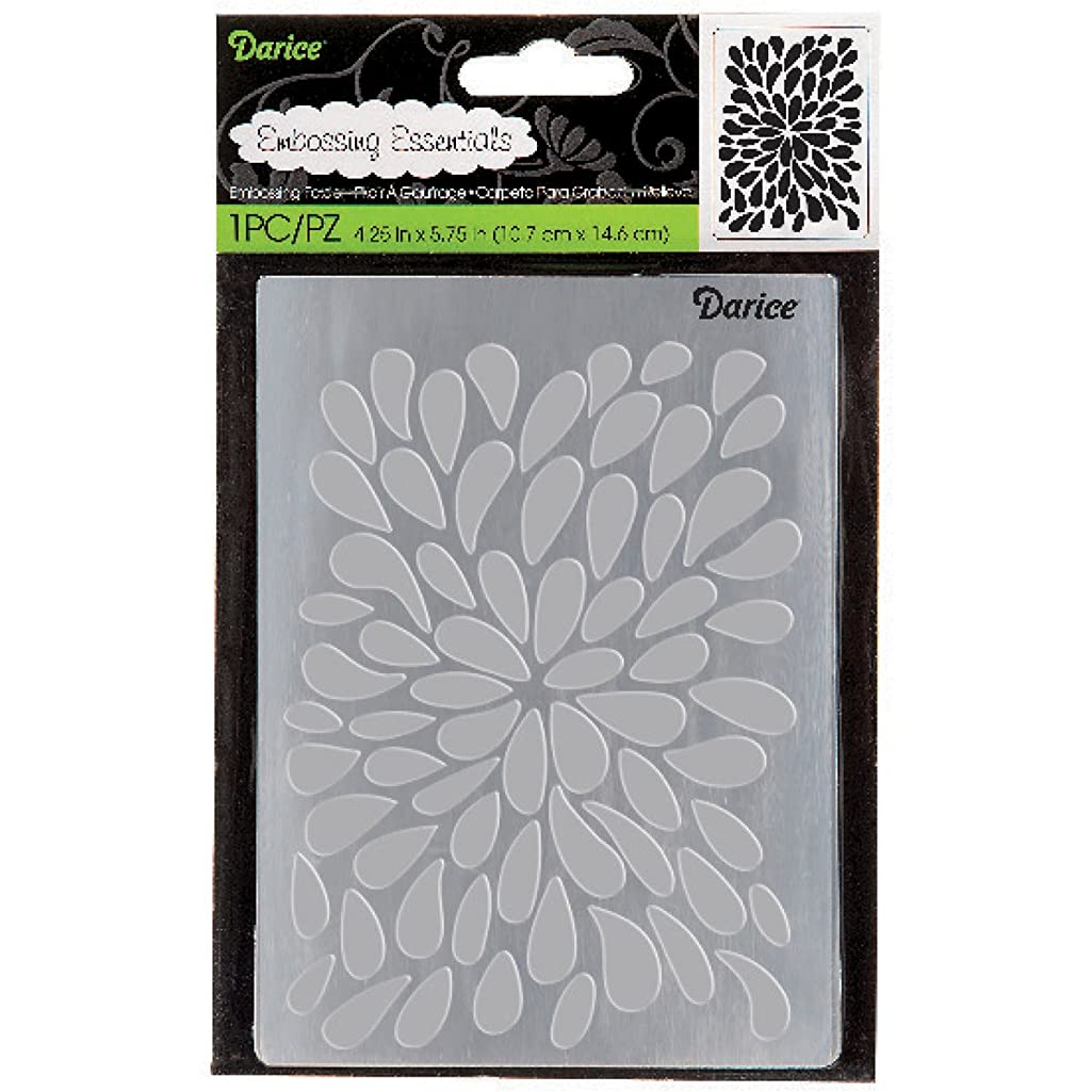 DARICE 30023108 Burst Background Embossing Folders, Multicolor