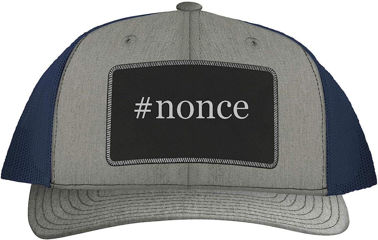 Hashtag Leather Dark Brown Patch Engraved Trucker Hat One Legging it Around #Purree