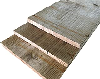 【5-1/2-レギュラー】杉足場板(古材) 長さ1900×幅210-200×厚15mm10枚セット(3.8平米)