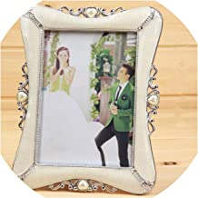 1 pcs Photo Frame Gold/Silver 7 inch Table Picture Frames for Desk Vintage Photo Frame Gifts Hallway Home Decoration,xinxiangyin Silver,7 inch