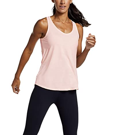 Eddie Bauer Trail Light Draped Back Tank (Pink) Women