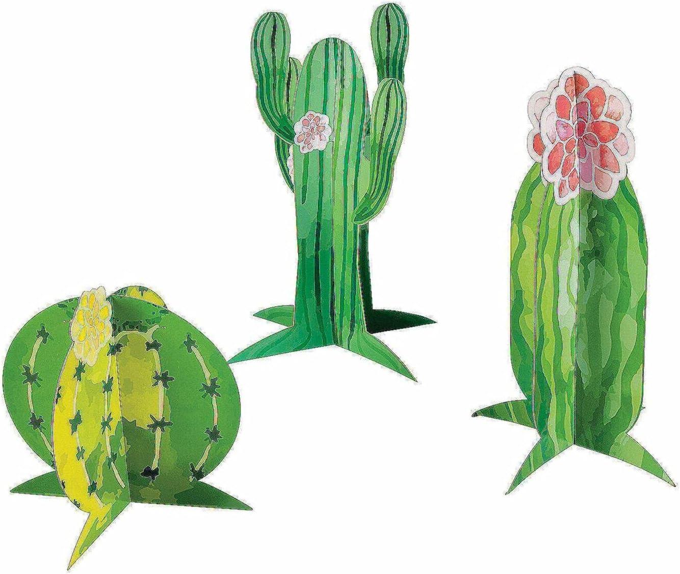 Cactus Store Party Centerpieces - Decor 3 100% quality warranty! Pieces D
