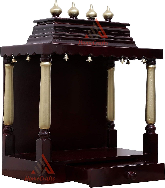 HomeCrafts Wooden Home Temple 価格交渉OK送料無料 LED INCH MANDIR 低価格 22x11.5x26 PUJA