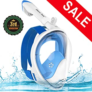 weird tails 2019 Upgraded Full Face Snorkel Mask Foldable Snorkeling Mask for Adults Kids with Camera Mount 180° Large Panoramic View Easy Breath Dry Top Set Anti-Fog Anti-Leak