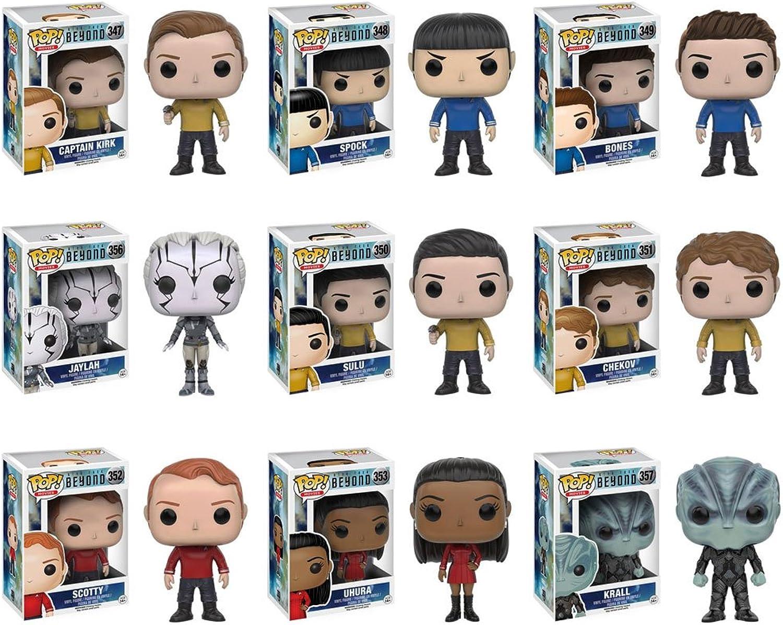 Pop  Star Trek Beyond - Captain Kirk, Spock, Bones, Jaylah, Sulu, Chekov, Scotty, Uhura and Krall Vinyl Figures  Set of 9 by Star Trek Beyond