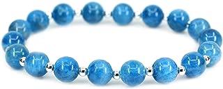 AMANDASTONES Natural Gemstone 8mm Round Beads S925 Silver Stretch Bracelet 7