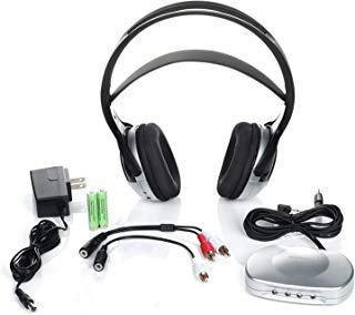 J3 TV920 Listener Rechargeable Wireless Infrared Headphones for TV Listening System | Cordless Over Ear Headphone