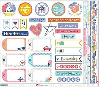 Anita y Su Mundo Momentos Papier pour Scrapbooking, Multicolore, 30,5x30,5cm