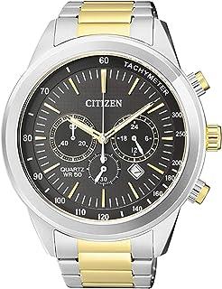 Citizen Men's Black Dial Stainless Steel Band Watch - AN8154-55H