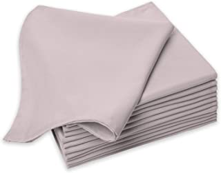 Pizuna Cotton-Dinner-Napkins 6 Pack Cloud Grey, 100% Long Staple Cotton Soft Absorbent Cloth Napkins, Luxurious Smooth Tab...