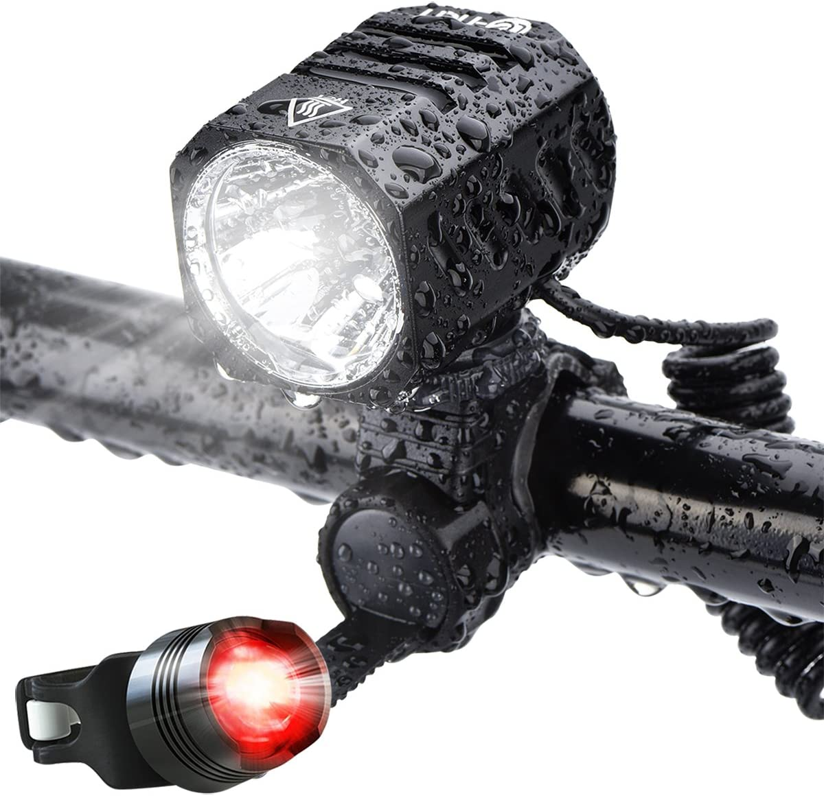 MTB Rechargeale Bike LED Front Light Cycling Headlamp Road Bicycle Headlight