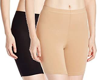 UCARE Women's Cotton Spandex Cycling Short(3202) Pack of 2