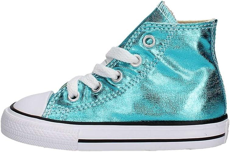 Converse E4418 Sneaker Bimba Azzurro Laminato Star Ctas Hi Scarpe Shoe Kid
