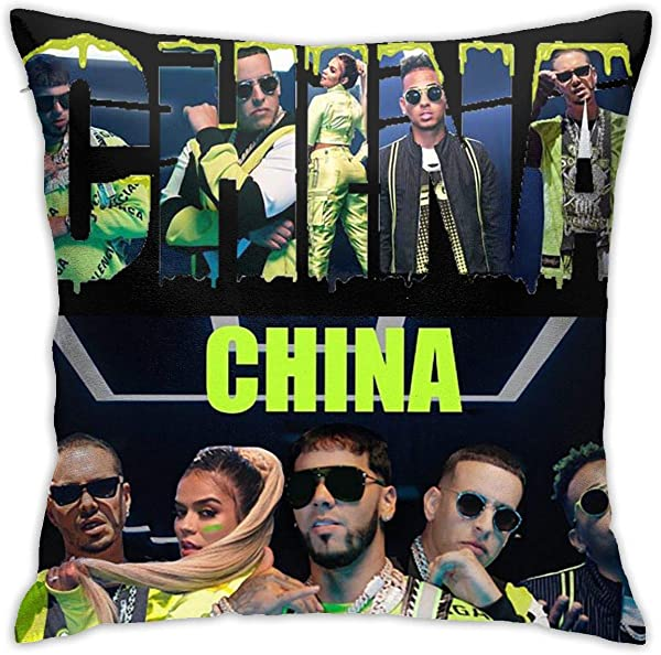 Music Compilation Album China Pillow Generalduty Casual Multicoloured Pillowcase Size 18 X 18 Inch