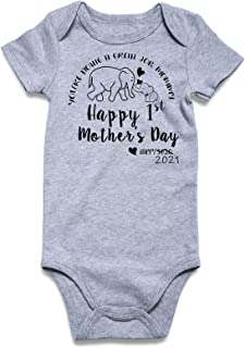 TUONROAD Funny Sayings Printed Onesies Baby Girl Boy Cotton Short Sleeve Bodysuit for 0-9 Months
