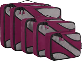 5 Set Travel Packing Cubes Luggage Carry On Packing Organizers with YKK Zippers