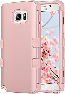 ULAK Note 5 Case, Galaxy Note 5 Case, 3 in 1 Hard PC Soft Silicone Hybrid Dust Scratch Resistance Protective Cover for Samsung Galaxy Note 5 (Rose Gold)