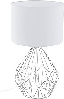Delamaison ILA3762020 Lampe à Poser, Acier, Blanc