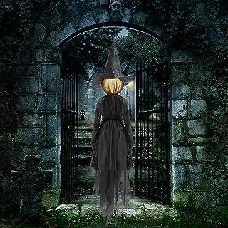 1 st lysande Halloween-häxa, utomhus Halloween-dekoration, vattentät häxdekoration som används för förförisk halloween rek...