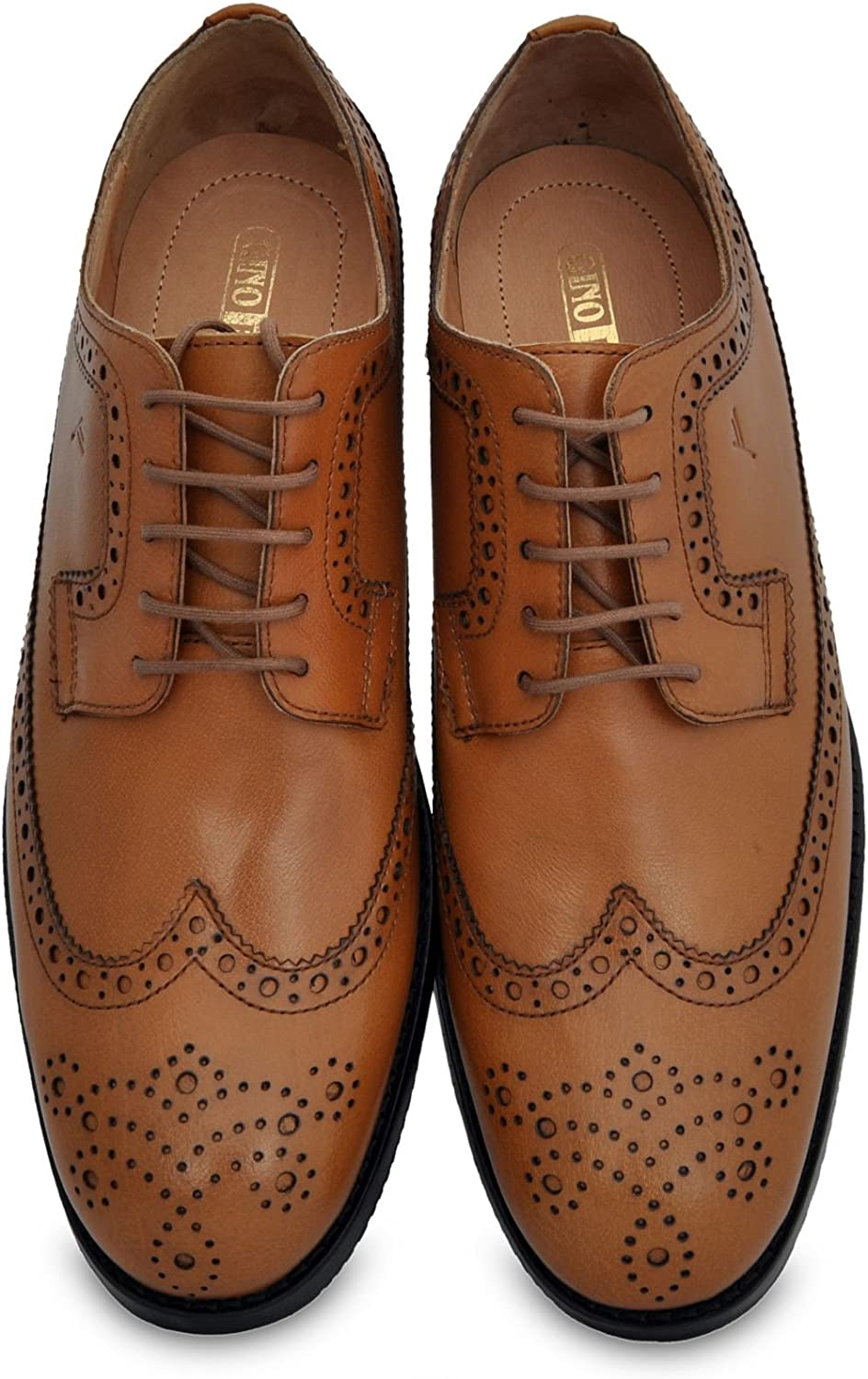 Gino Romano Brogue shoes for Men - Full Grain Premium Leather and Imported silverinian Leather Sole