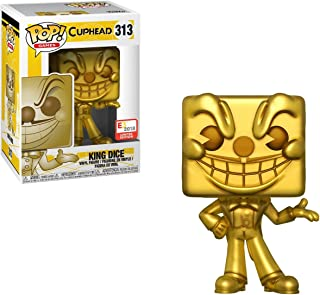 Funko King Dice (E3 2018 Exclusive): Cuphead x POP! Games Figure + 1 Video Games Themed Trading Card Bundle [#313 / 33336]
