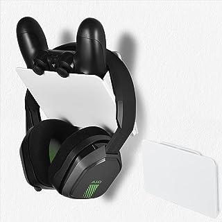XBERSTAR コントローラースタンド ヘッドホンハンガー ps4 スタンド 壁掛け 折り畳み 超强両面テープ 貼り付け 固定 磁石開閉 超薄型 スペースを取らない switch/xbox/PS4/PS5/Sony/XboxOne/Xbox/...