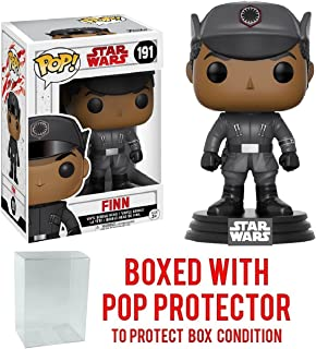 Funko POP. Star Wars: The Last Jedi–Finn # 191vinilo Figura (incluido con el pop Caja Protector Caso)