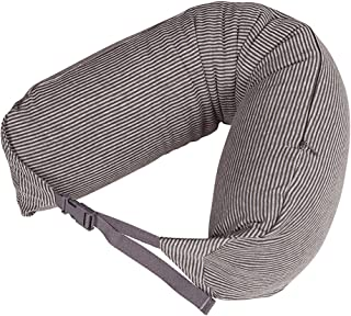 LBMUJI 【Counter genuine】 MUJINeck pillow neck pillow for airplane travel neck pillow for car Sofa pillow U-pillow (Specifications 16x67cm, Brown gray stripes)